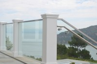Tiburon Deck Rail and Glass Stairwell - OT Glass