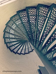 Kenosha Wisconsin - Southport Lighthouse Iron Stairs