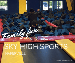 Sky High Sports in Naperville, a fun trampoline park for the family