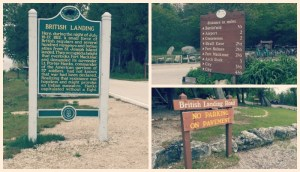 Biking Mackinac Island - British Landing Signs