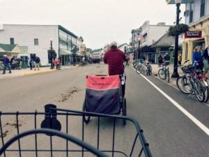 Biking Mackinac Island - Downtown Road Horse Poop
