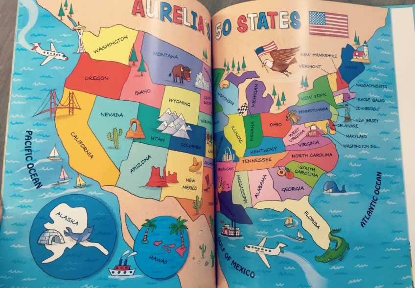 I See Me! 50 State Map - O the Places We Go Map My Trip Usa on my island map, my va map, my world map, my usa flag,