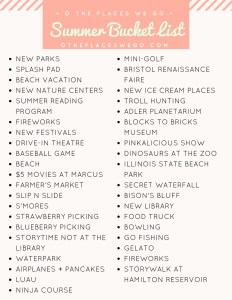 Our summer bucket list with things to do in Chicago and beyond.