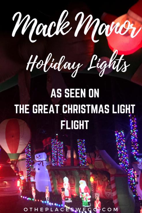 Holiday Lights at Mack Manor at Fox River Grove, Illinois