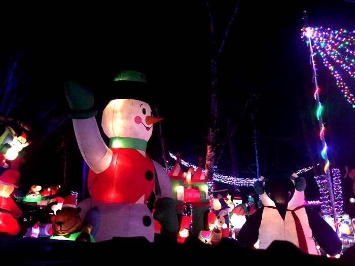 The awesome holiday lights show at Mack Manor in Fox Grove, Illinois.