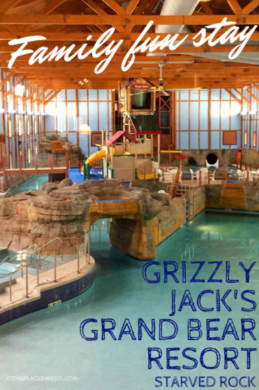 A family fun stay at Grizzly Jack's Grand Bear Resort in Starved Rock. Here you'll find Northwoods-themed lodging, a newly revamped waterpark, mini golf, an arcade, and more family fun activities.