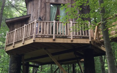 Family Glamping: A Magical Time at The Mohicans Treehouse