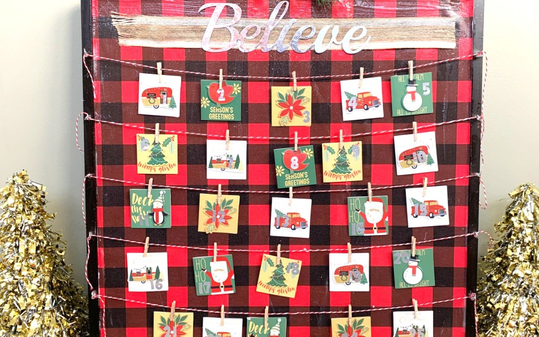 DIY Activity Advent Calendar using Dollar Tree supplies