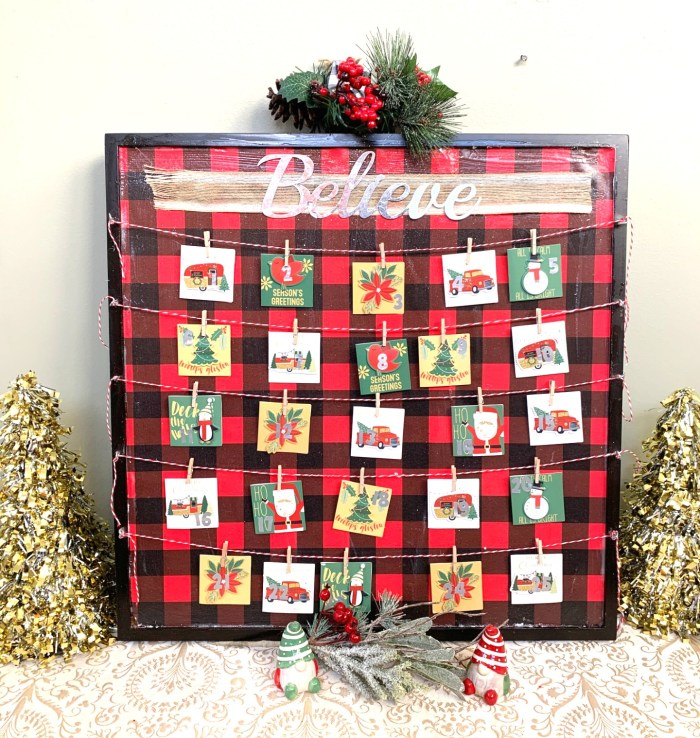 DIY Advent Calendar using Dollar Tree supplies