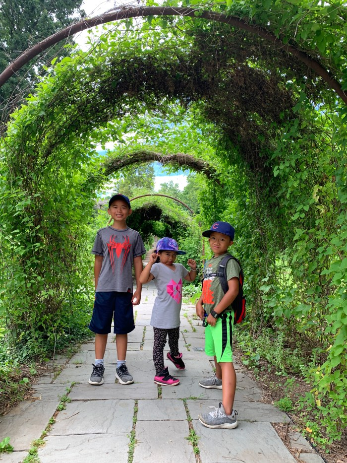 """All about our family fun day in Geneva, IL including a stroll in downtown Geneva, a """"secret garden"""" at Fabyan Forest Preserve, and nature at Peck Farm."""