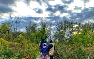 Exploring Red Oak Nature Center: Cave, easy hikes, nature-based playground