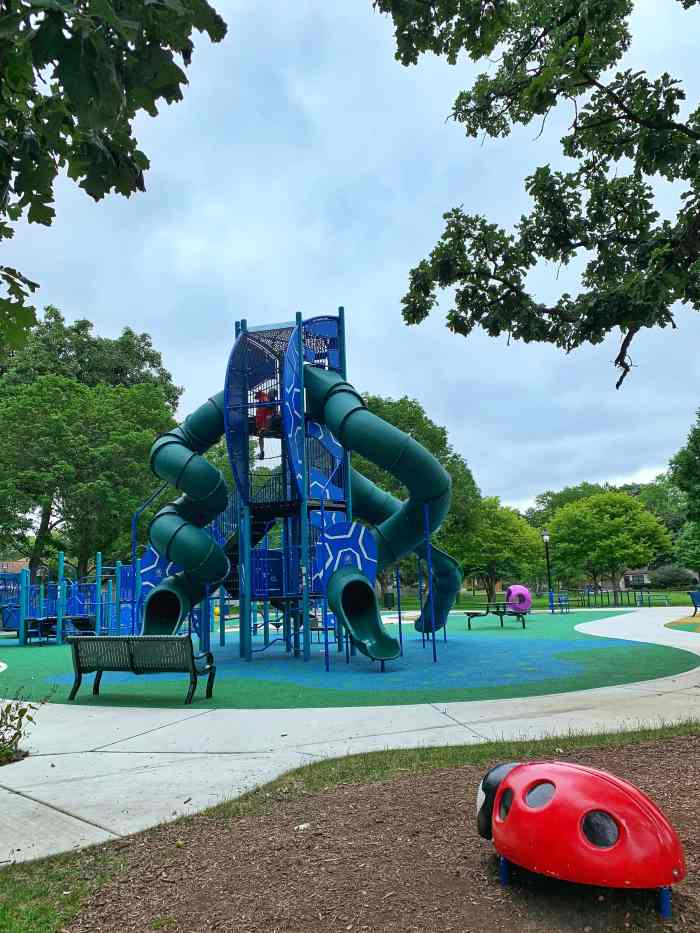 Plan a family fun day out in Bartlett. Grab coffee, play at playgrounds including the awesome Free to Be Me, splash away, and grab ice cream.