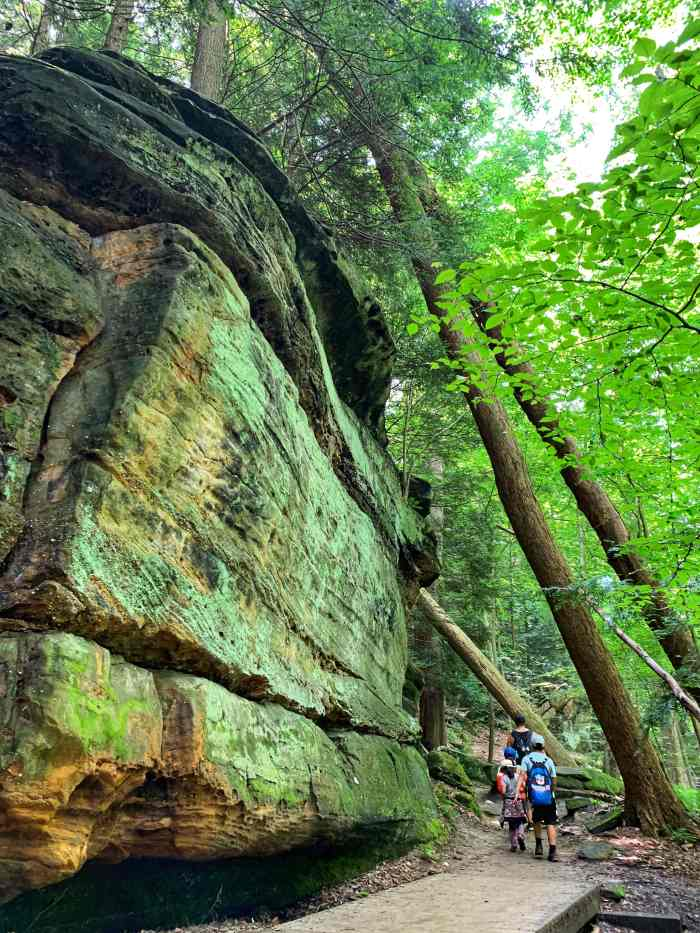 Explore Cuyahoga Valley National Park with kids in one day including hiking at Brandywine, The Ledges, and Bridal Veil Falls.