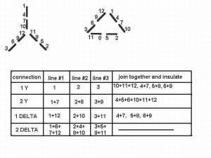 3 Phase Motor Wiring Diagram 12 Leads  impremedia