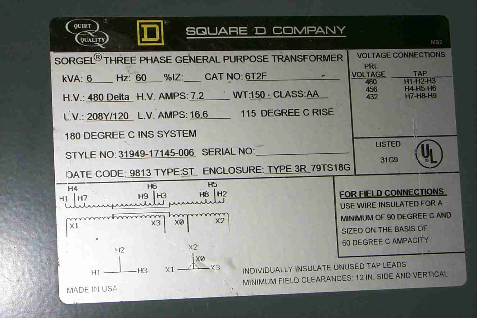 480 Volt To 120 Volt Transformer Wiring Diagram