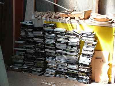 lots of hard drives
