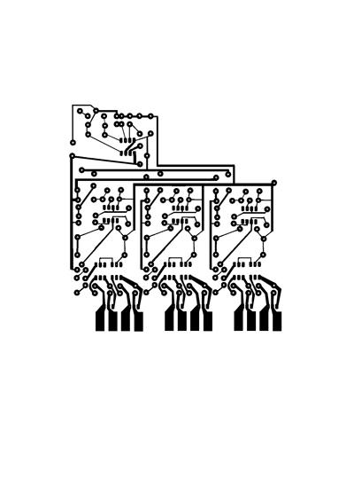 Control of 4 loads +tachometer vu-meter 21 leds