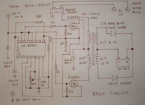 Making 25w Low Power Inverter Circuit Diagram
