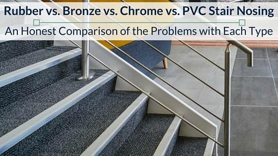Rubber Stair Nosing Vs Bronze Vs Chrome Vs Pvc Common Problems | Carpet Stair No Slip Nosing | Stair Tread Nosing | Strips | Non Skid | Laminate Flooring | Gravel
