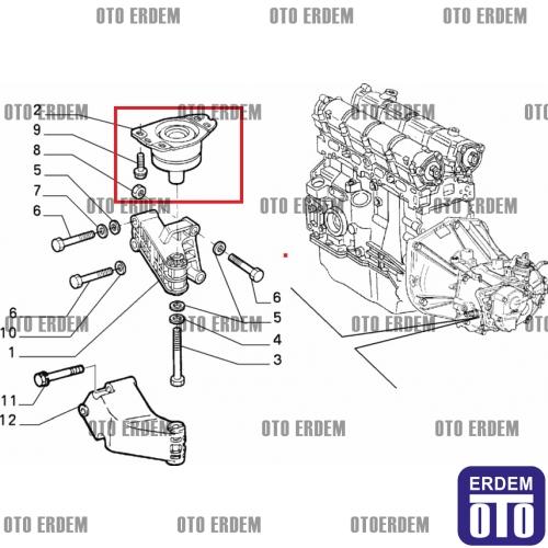 Fiat Brava Şanzıman Takozu Orjinal 7778563 7778563 » Oto
