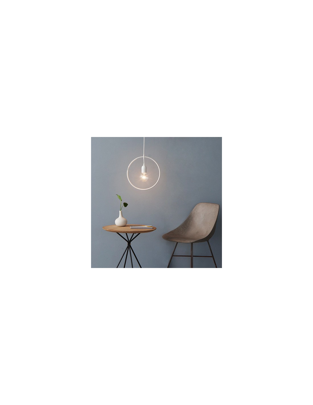Suspension Geometrique Rond Blanc Geometry Made Easy