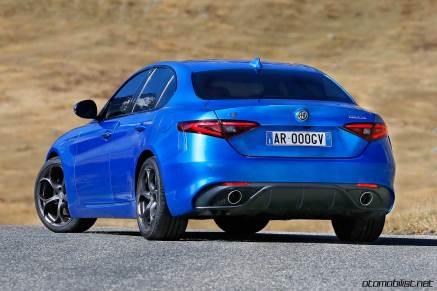 Alfa Romeo Giulia Veloce Back