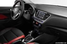 2018 Hyundai Accent Konsol vites kontrol direksiyon cam