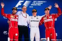 2017 Formula 1 Rusya GP podyum