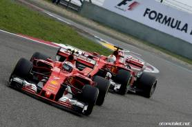2017 Formula 1 Chinese Grand Prix Raikkonen Vettel Ferrari