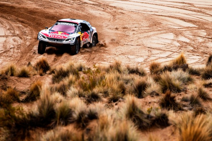 307 DESPRES CYRIL (fra) CASTERA DAVID (fra) PEUGEOT TEAM PEUGEOT TOTAL 3008 DKR action during the Dakar 2017 Paraguay Bolivia Argentina , Etape 7 - Stage 7, La Paz - Uyuni, January 9 - Photo Frederic Le Floc'h / DPPI