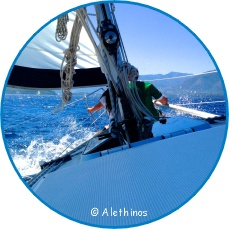 Segelboot in Fahrt