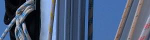 Seile und Schoten am Mast