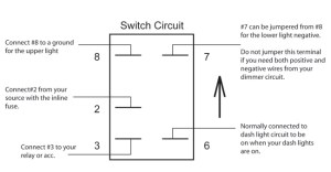 Onoff Switch & Led Rocker Switch Wiring Diagrams