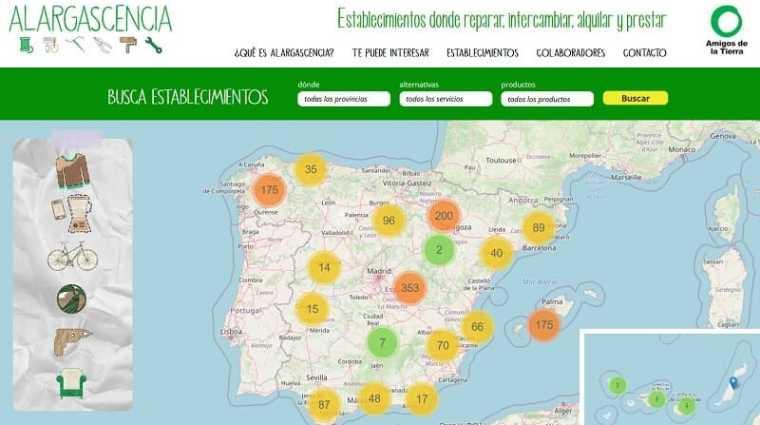 mapa buscador de iniciativas circulares en España