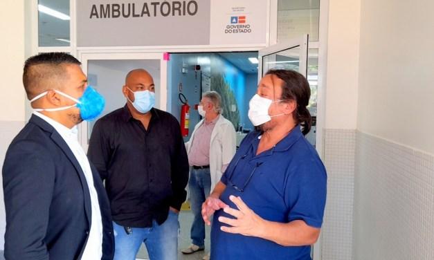 Presidente da Câmara inicia visitas a hospitais de Ilhéus que estão próximos ao colapso por conta da Covid