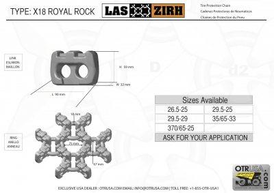 TPC 29.5-25 4x4 X18 Las Zirh Royalrock Heavy Duty Square