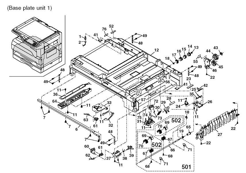 Основание 1 MB OC 316/318/420/ Sharp AR-5316/5320/141G