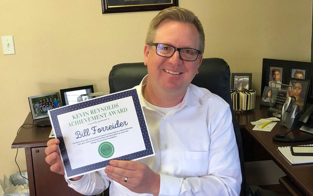 2021 Kevin Reynolds Achievement Award Recipient: Bill Forreider