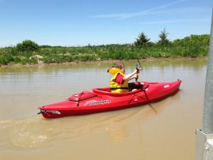 First-time paddler