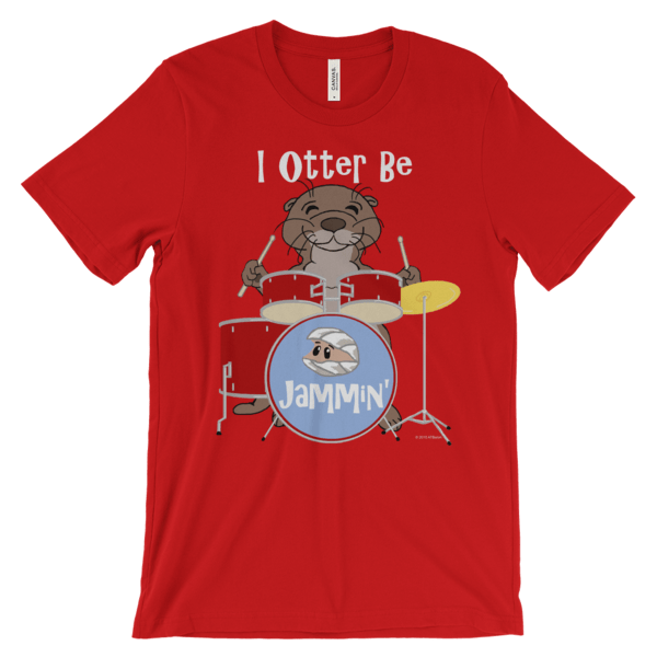 I Otter Be Jammin' Red T-shirt