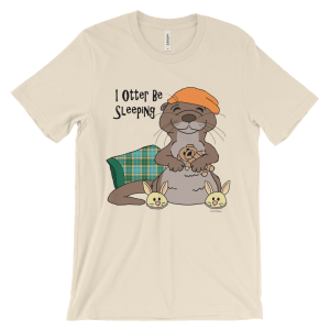 I Otter Be Sleeping Cream T-shirt