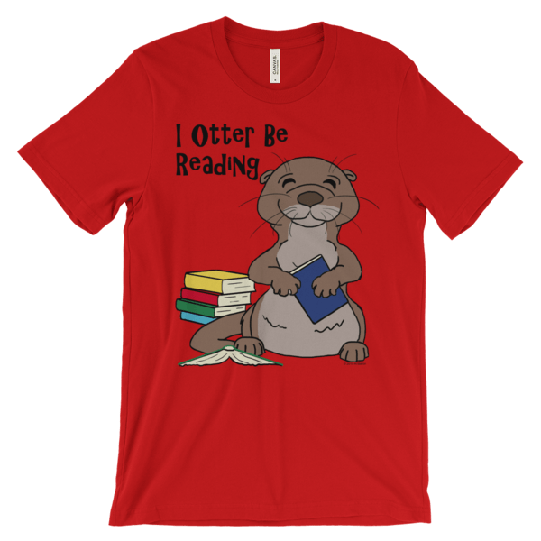 I Otter Be Reading Red T-shirt