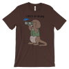 I Otter Be Birding Brown T-shirt