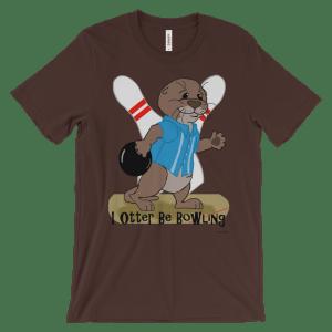 I Otter Be Bowling Brown T-shirt