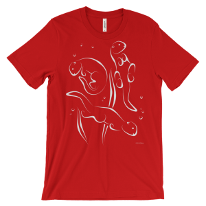 Otters Swimming Red T-shirt