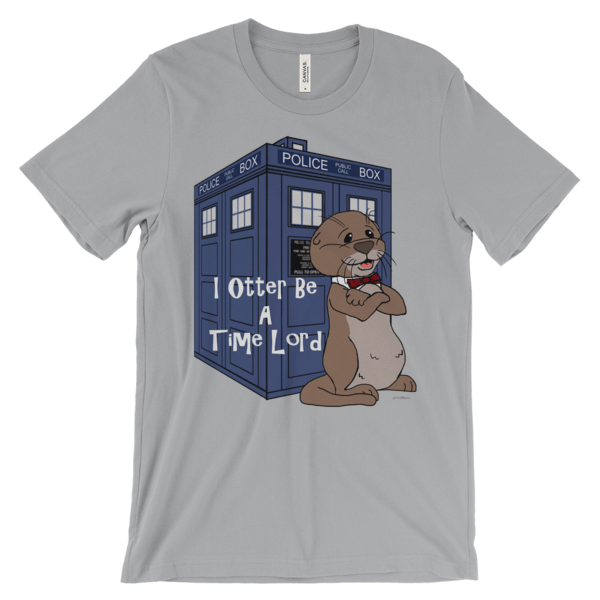 I Otter Be A Time Lord Silver T-shirt