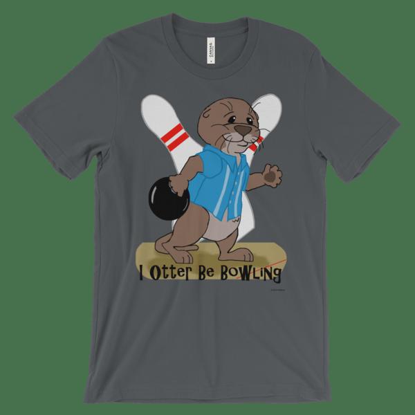 I Otter Be Bowling Asphalt T-shirt