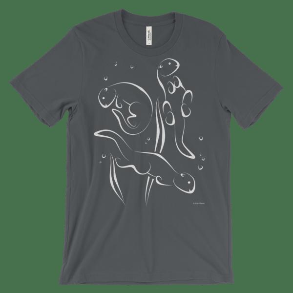 Otters Swimming Asphalt T-shirt