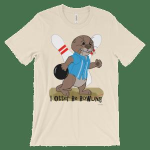 I Otter Be Bowling Soft Cream T-shirt