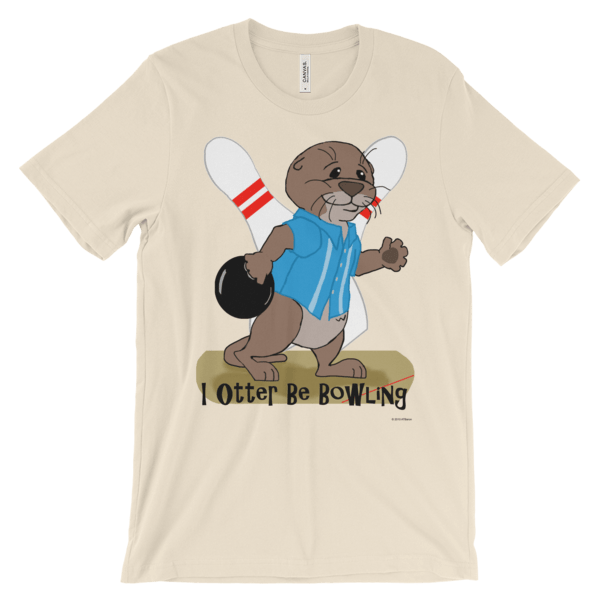 I Otter Be Bowling Soft Cream T-shirt